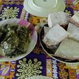 ダロとダロリーフのココナッツ煮